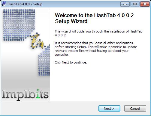 Установка HashTab